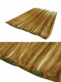 Modäne Glatten Blonden Clip in Haar Extensions