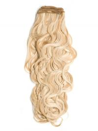 Blonde Gelockten Weichen Spinnende Extensions