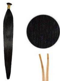 Schwarze Unglaublichen Stick/I Tip Haar Extensions