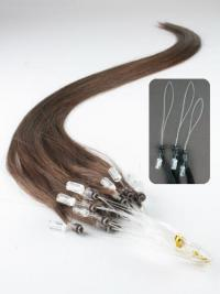 Ideale Braunen Micro Loop Ring Haar Extensions