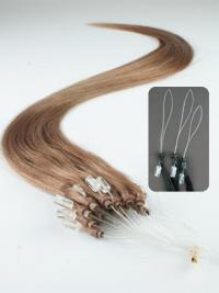 Billige Braunen Micro Loop Ring Haar Extensions