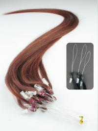 Geeignete Rotbraunen Micro Loop Ring Haar Extensions