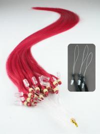 Naturliche Roten Micro Loop Ring Haar Extensions