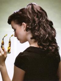 Unglaubliche Gewellten Braunen Clip In Haarteile