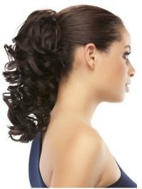 Modäne Gelockten Braunen Clip In Haarteile