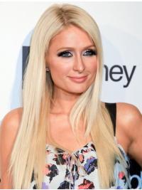 Weiche  Blonden Paris Hilton EchthaarPerücken