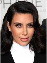 Moderne Langen Schwarzen Kim Kardashian