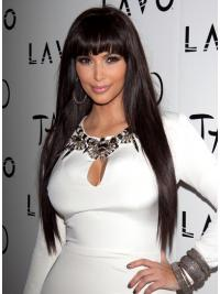 Haarschnitt Langen Braunen Kim Kardashian