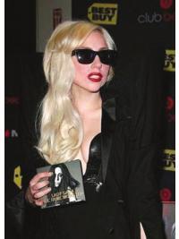 Große Blonden Längeren Lady Gaga