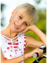 Wunderbare Kurzen Blonden Kinder Perücken