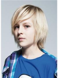Moderne Mittleren Blonden Kinder Perücken