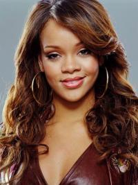 Rotbraunen Gelockten Modische Rihanna