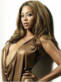 Beyonces Lange Gewellte Braune Exquisite Perücken