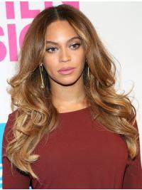 Beyonces Lange Gewellte Blonde Hübsche Perücken