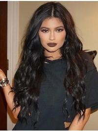 Kylie Jenners Lange Gelockte Schwarze Hübsche Perücken