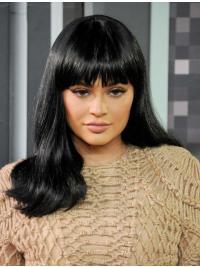 Kylie Jenners Lange Gewellte Schwarze Perfekte Perücken