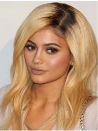 Kylie Jenners Lange Gewellte Blonde Neue Perücken